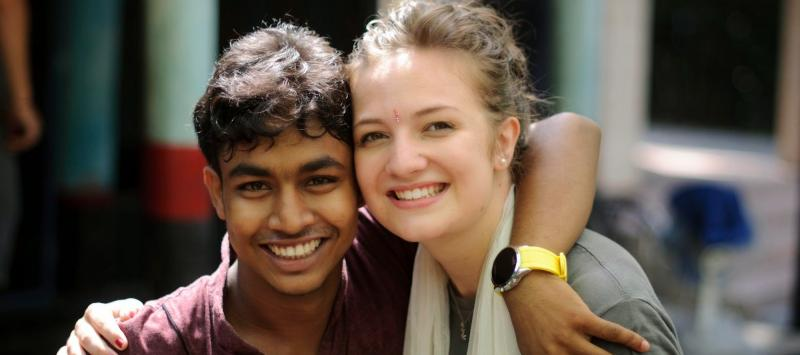 UK and Bangladeshi volunteers Jeet and Lottie van Grieken