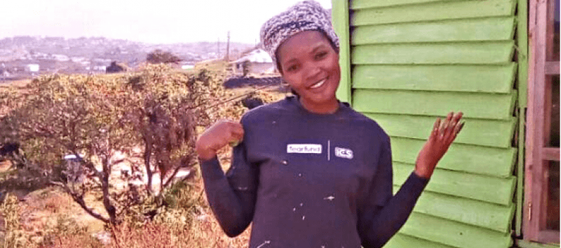 South African volunteer Nokwanda's new best friend is her host sister