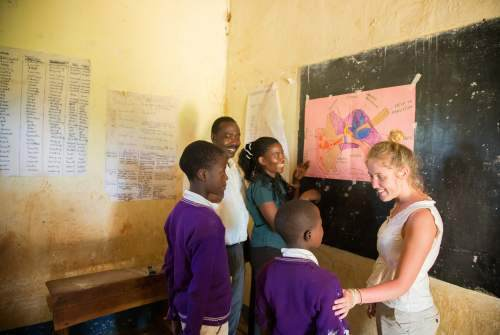 Volunteer amy in Tanzania